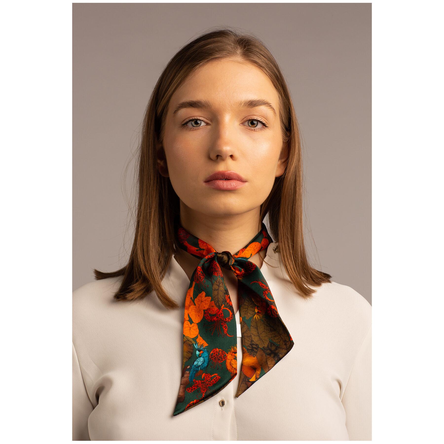 Art silk twilly scarf Ilona Tambor