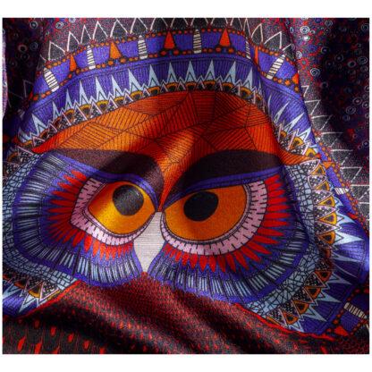 Owl silk pocket square Ilona Tambor