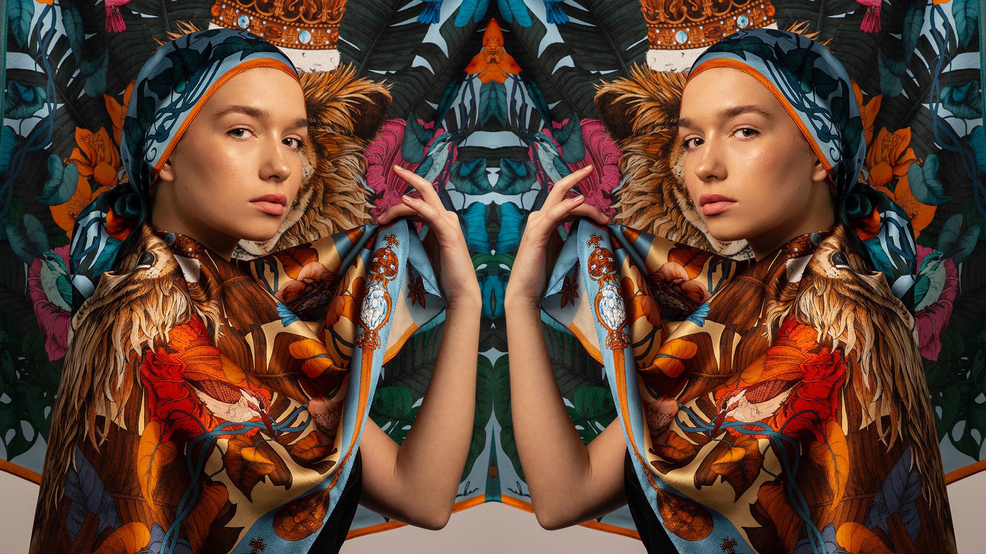 Ilona Tambor Luxury Art Silk Scarf