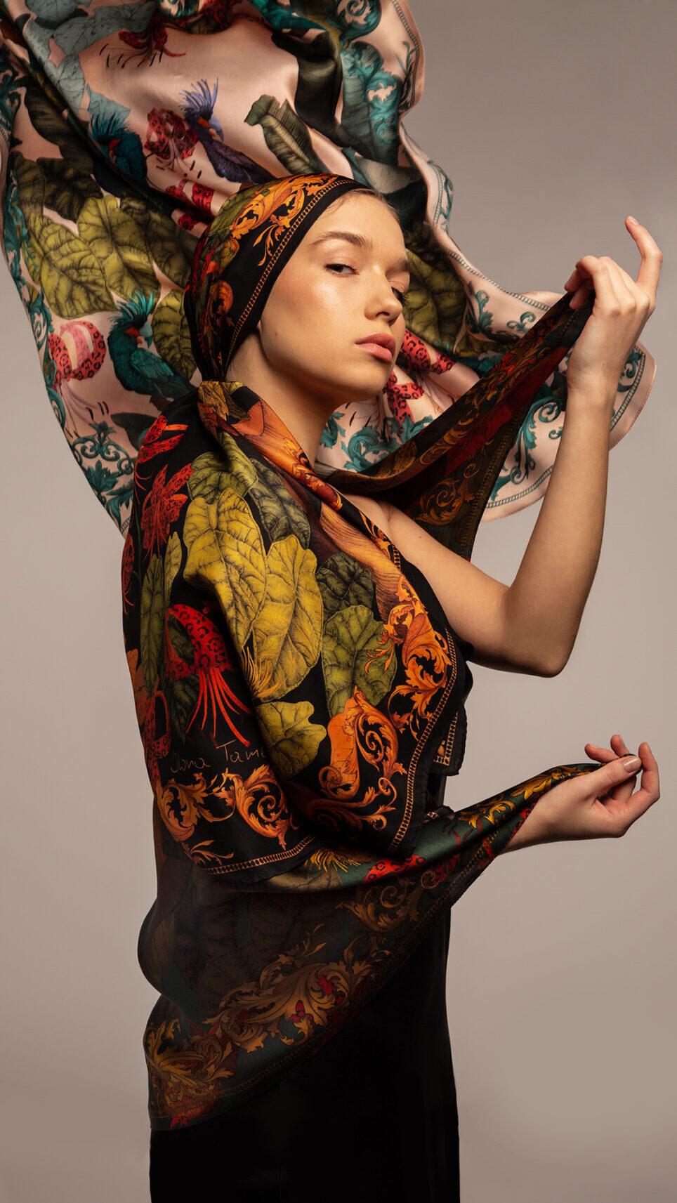 The Tropical Paradise silk scarf Ilona Tambor