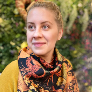 Ilona Tambor The Tropical Paradise Silk Scarf