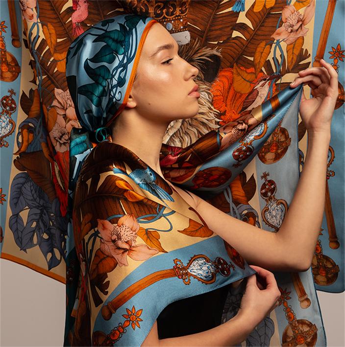 shop luxury art silk scarves collection uk ilona tambor