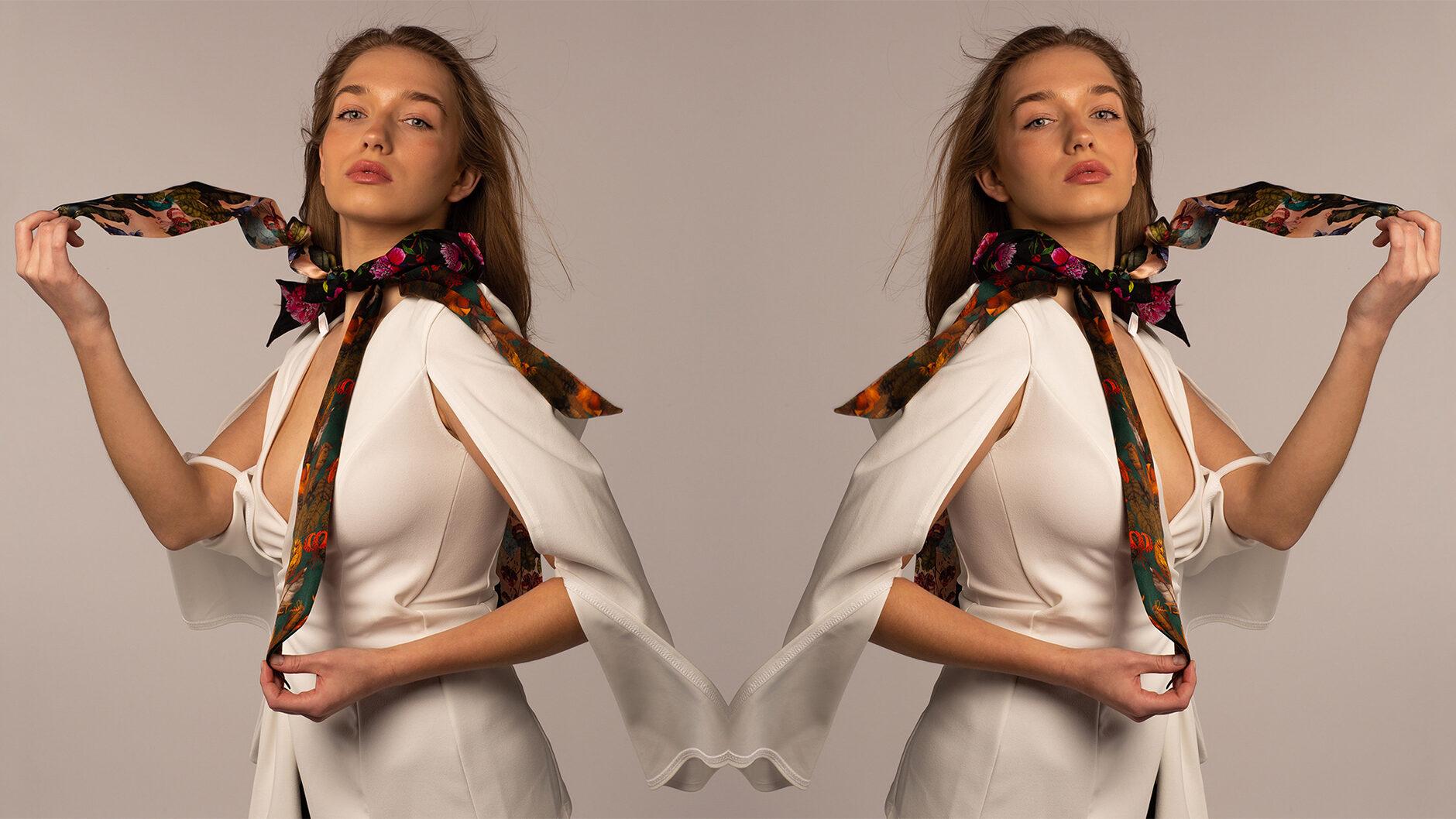 Ilona Tambor Luxury Silk Twilly Scarf