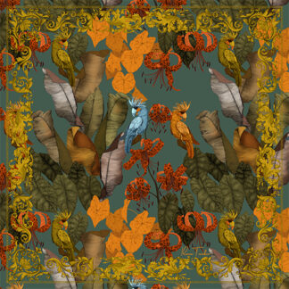 Art Silk Scarf The Tropical Paradise Ilona Tambor