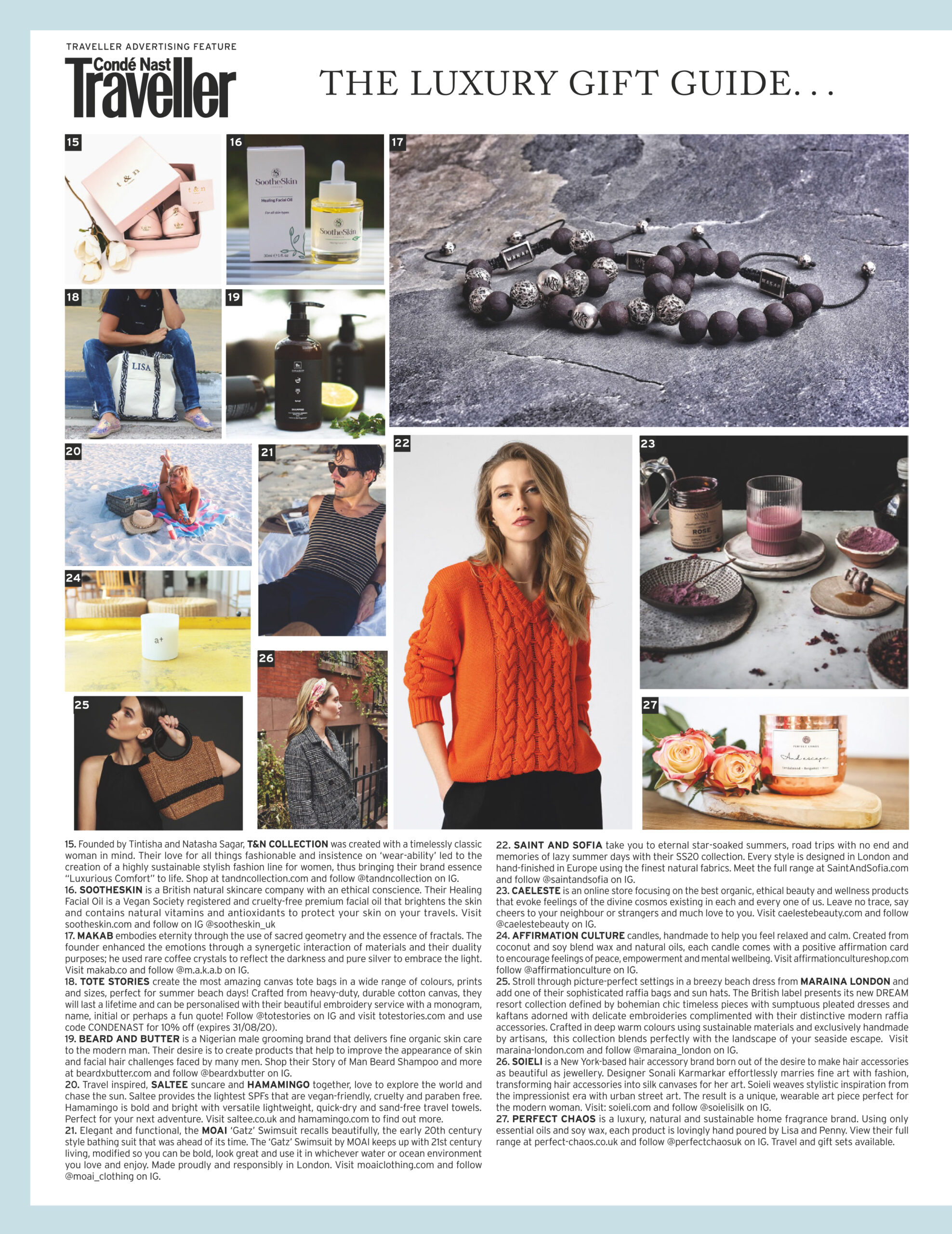 Conde Nast Traveller Luxury Gift Guide Ilona Tambor