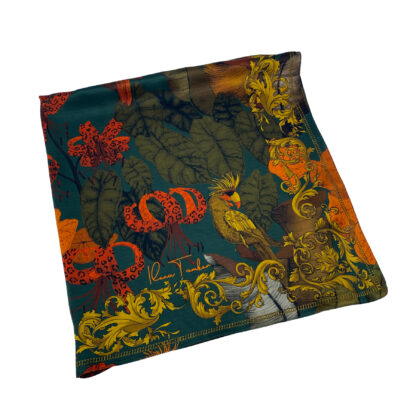 The Tropical Paradise Silk Scarf Green