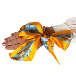 Silk ribbon twilly