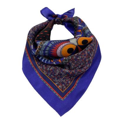 Owl silk scarf