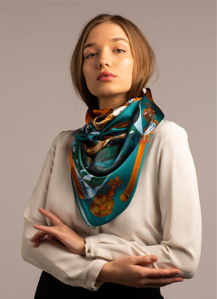 printed bandana scarf