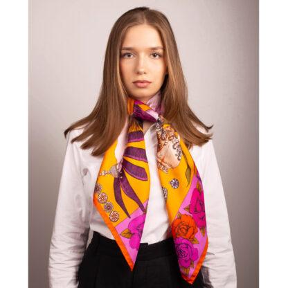 Silk scarf by Ilona Tambor