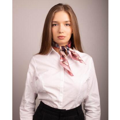 Luxury Silk Scarf Pink Ilona Tambor