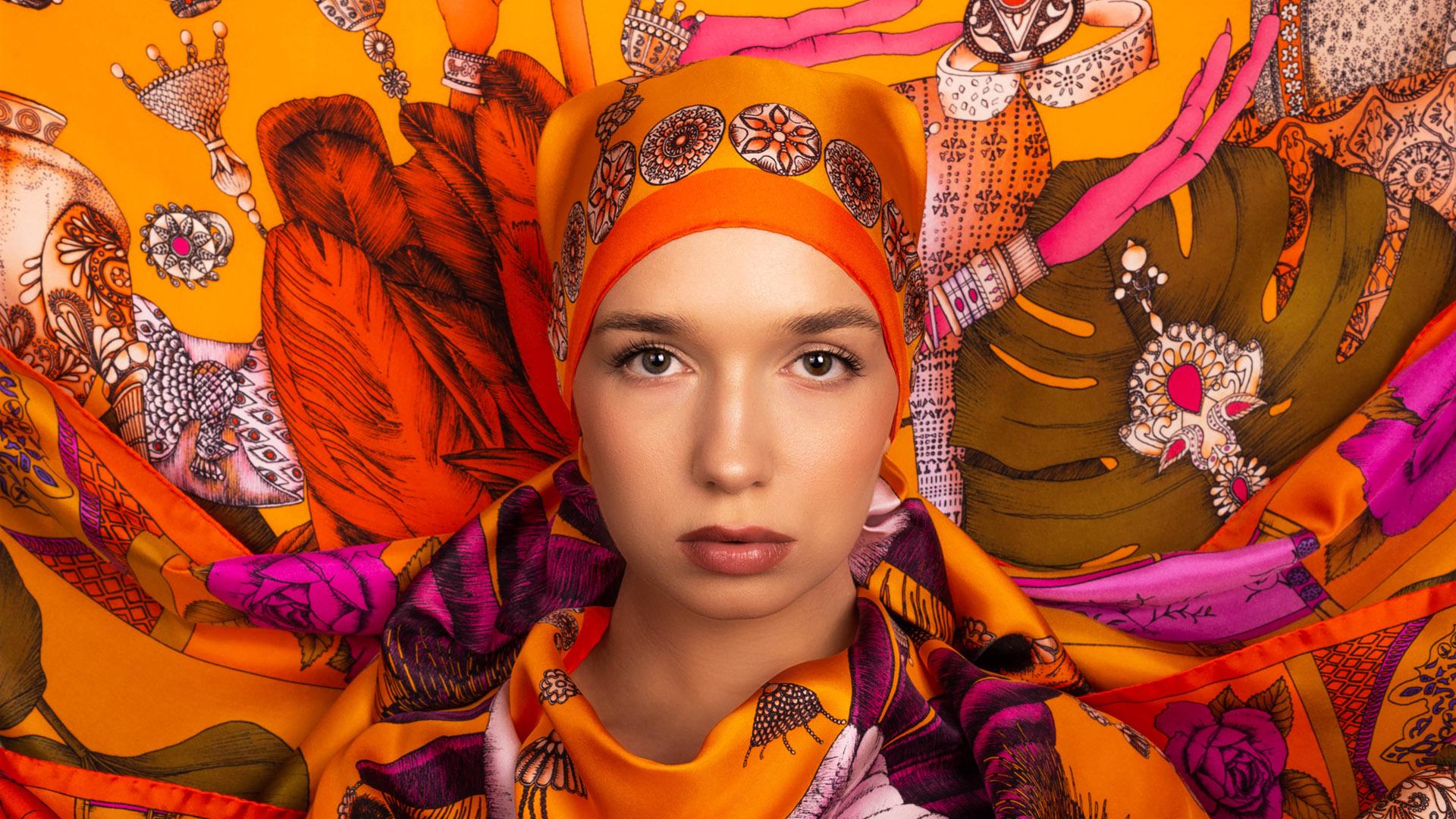 Art Silk Scarves Ilona Tambor