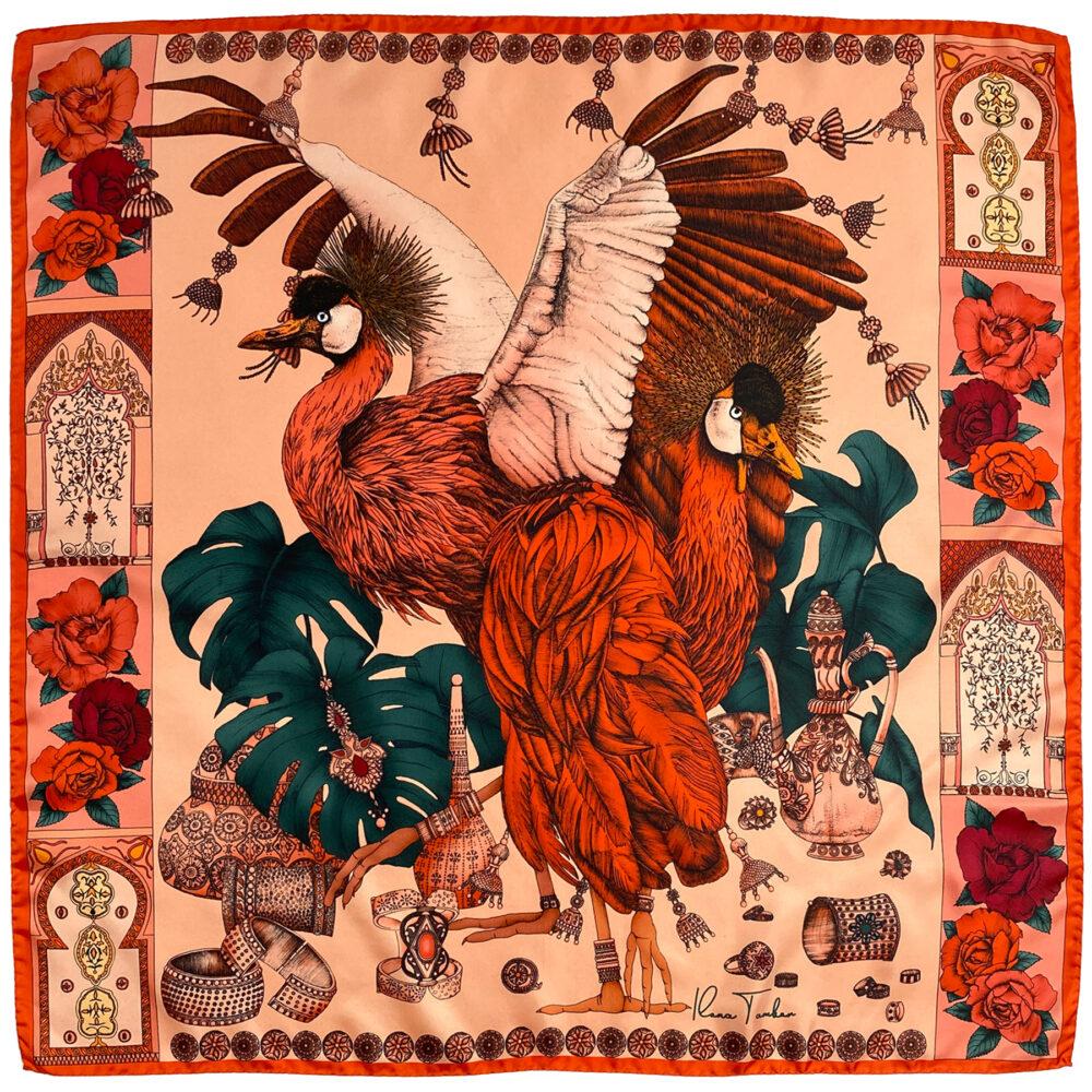 Fall silk scarf outfit Ilona Tambor