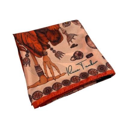 Fall silk scarf Ilona Tambor