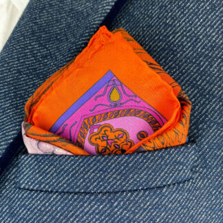 Silk pocket square by Ilona Tambor