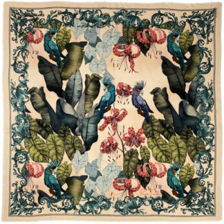 wool silk scarf The Tropical Paradise