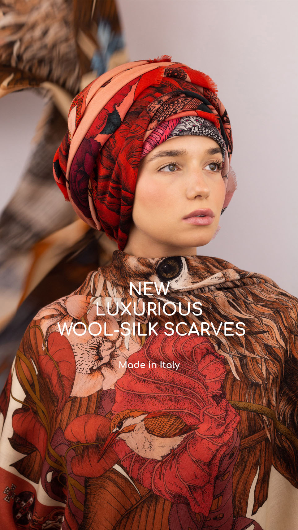 Wool Silk Scarf Collection