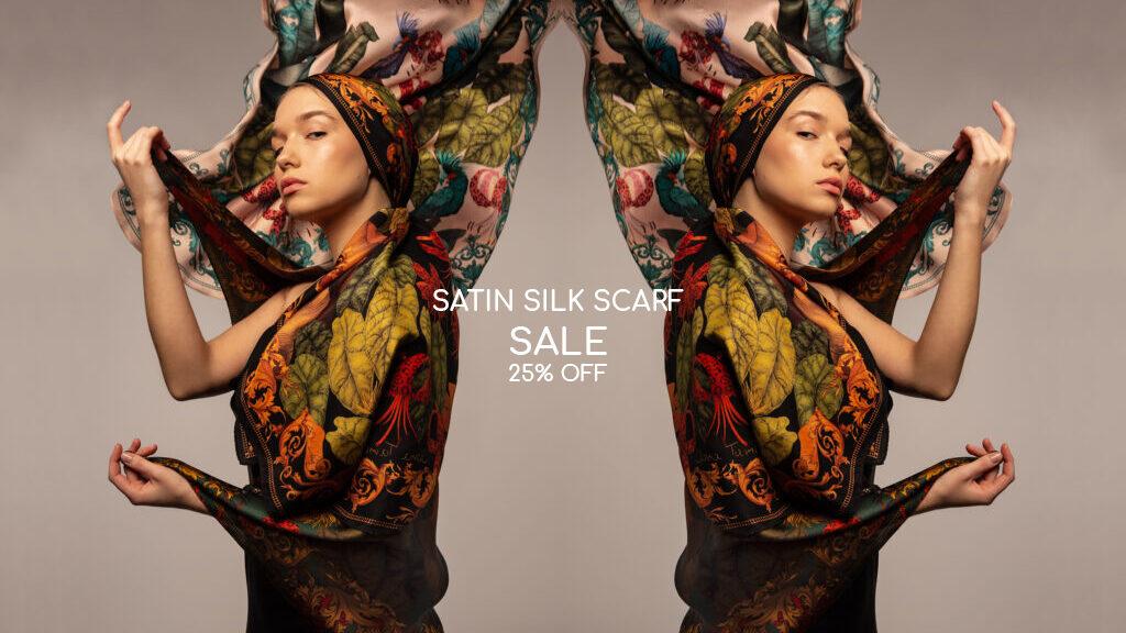Satin Silk Scarves