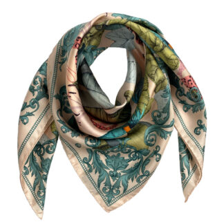 Art Silk Scarf The Tropical Paradise