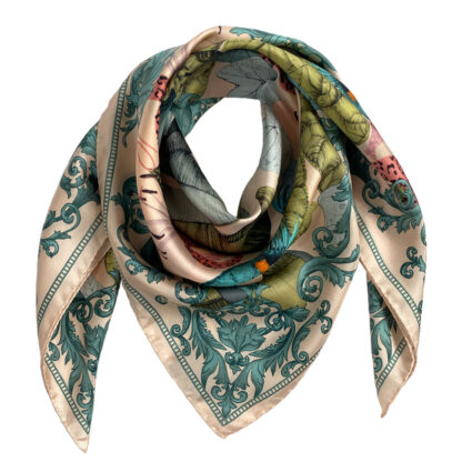 Art Silk Scarf The Tropical Paradise