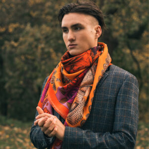 wool silk scarf men