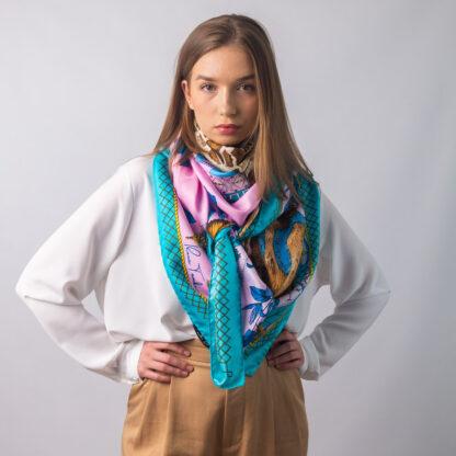 The Magic Giraffe silk scarf