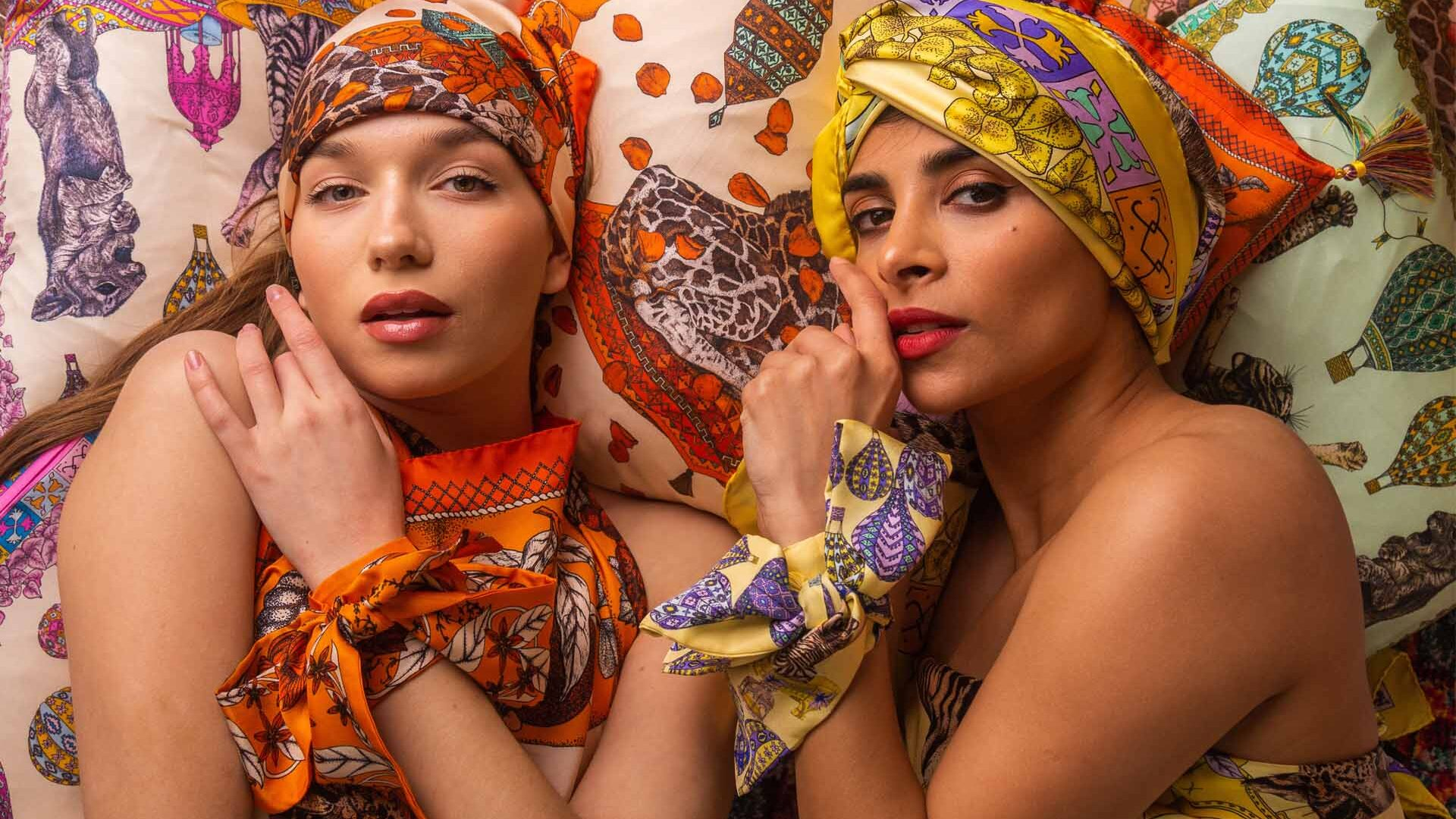Ilona Tambor Art Silk Scarves Collection
