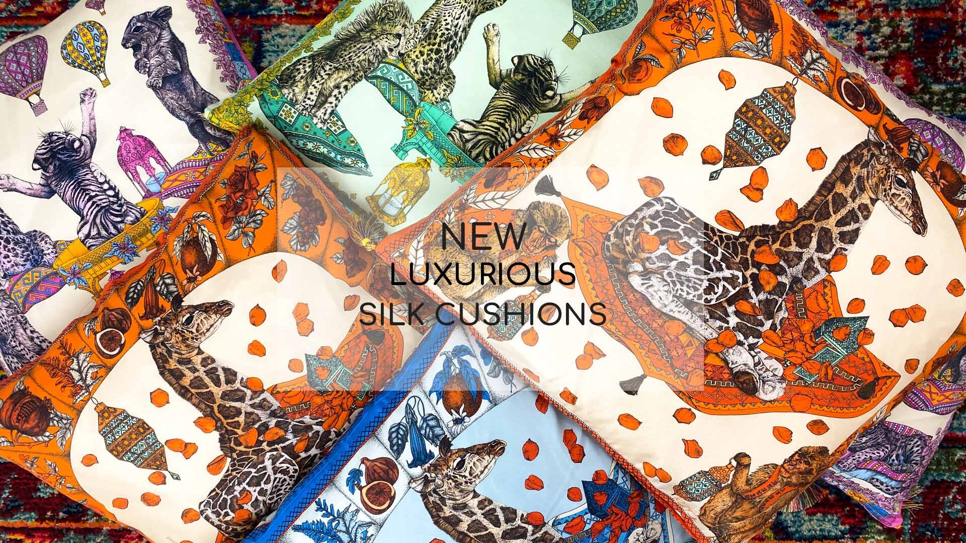 Ilona Tambor Silk Cushions Collection