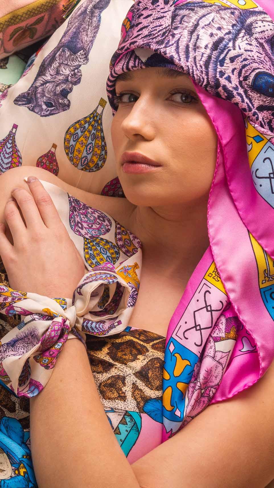 Ilona Tambor Art Silk Scarves Collection