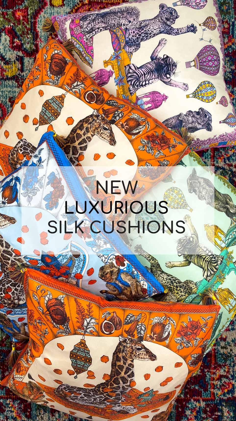 Ilona Tambor Silk Cushions Collection