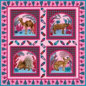 The Maroccan Days silk scarf
