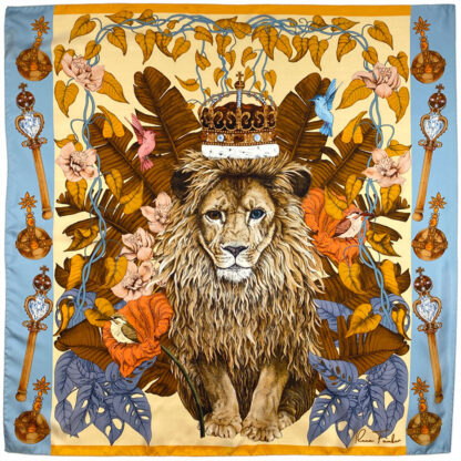 The Mysterious Lion King Silk Scarf