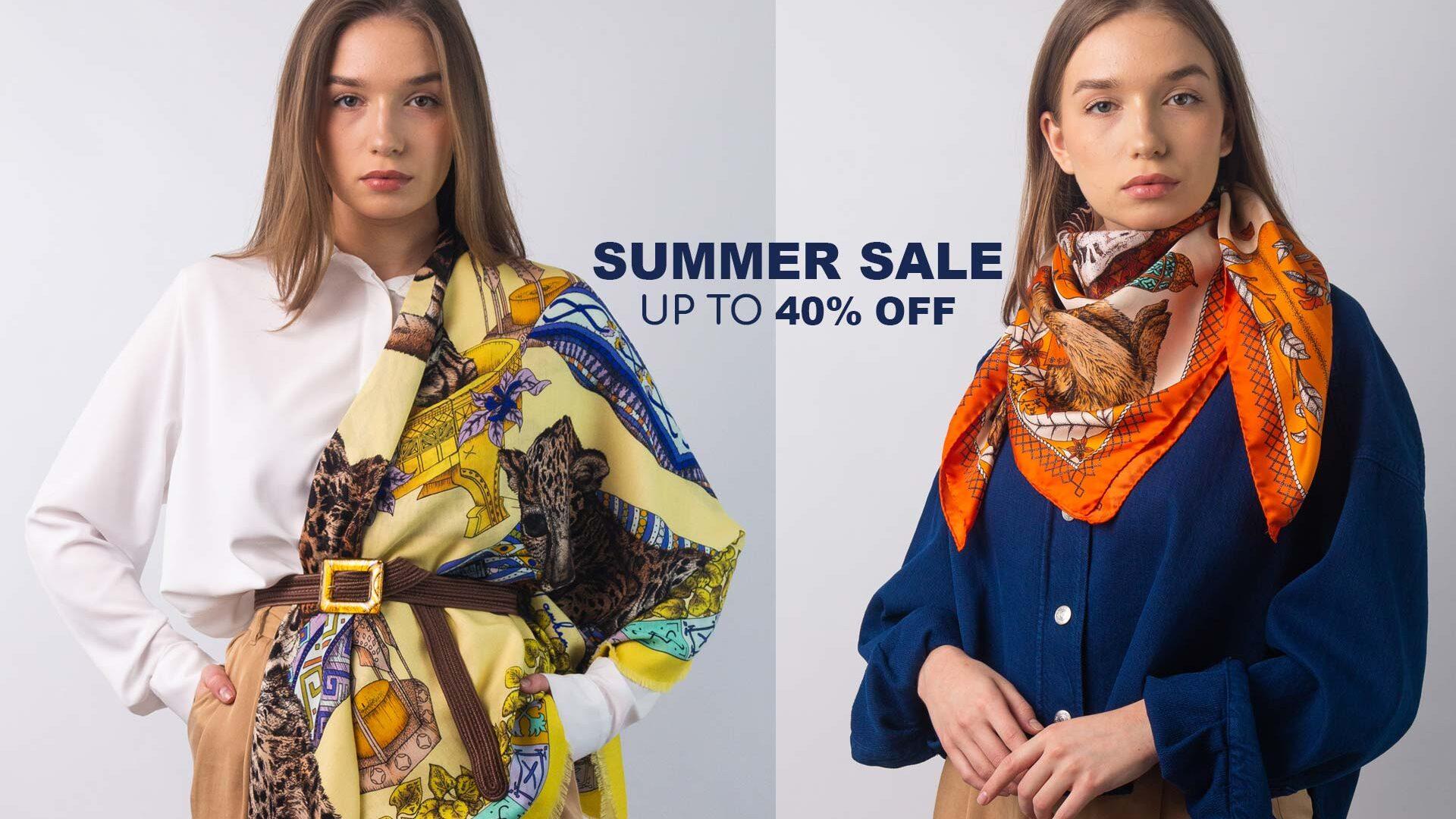 Ilona Tambor Sumer Sale Silk Scarf