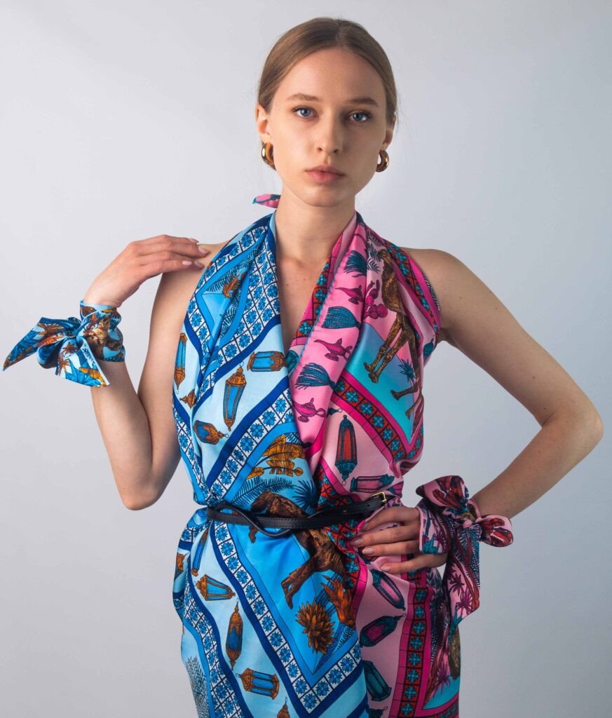 how to wear a silk scarf online uk