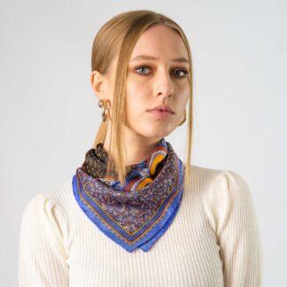Owl scarf purple Ilona Tambor