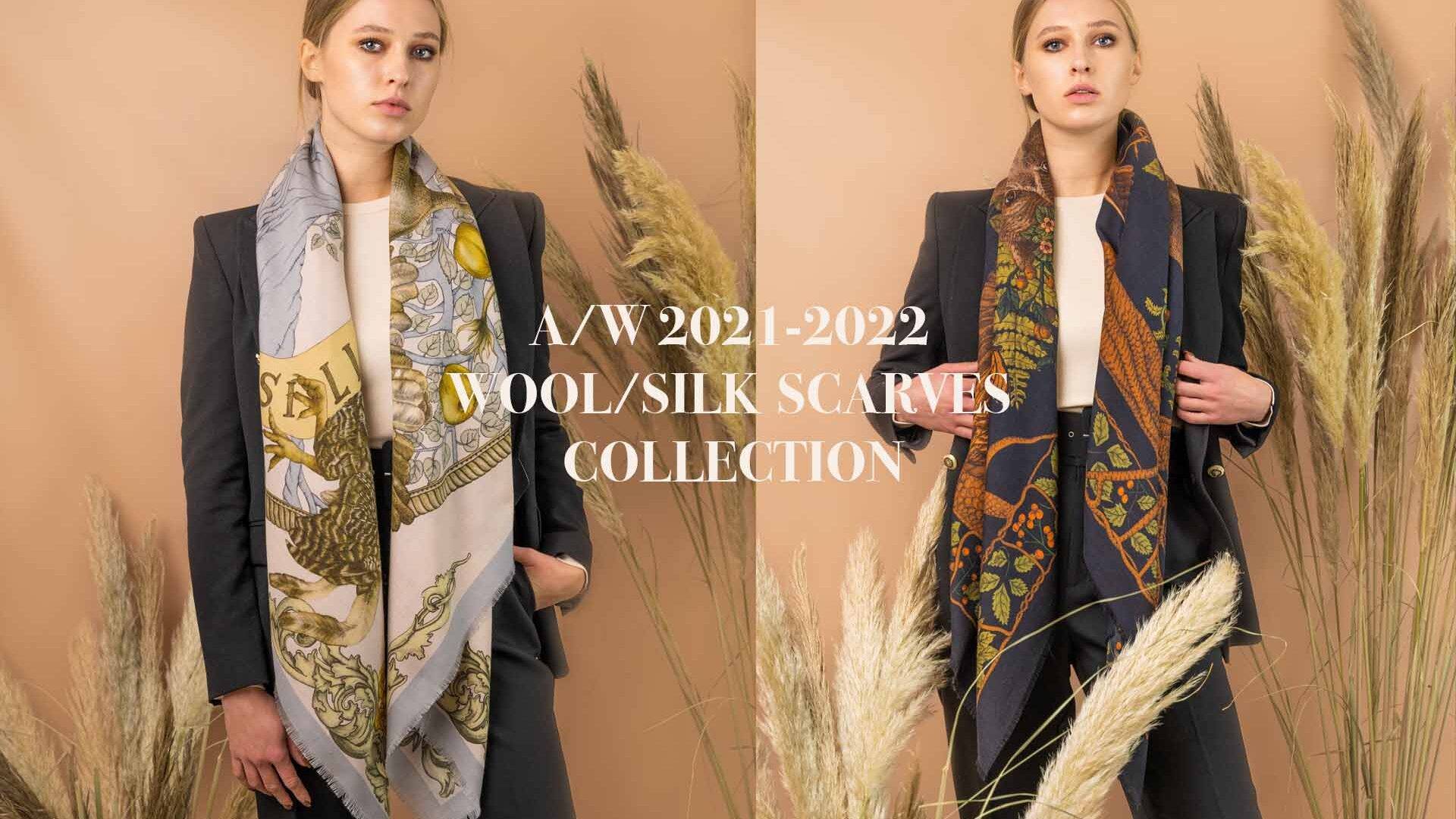 Wool Silk Scarves Collection AW 20021